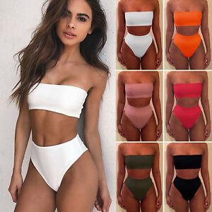 Damen Padded Bikini Set Badeanzug Bademode Gepolstert Schewimmanzug Badekleidung