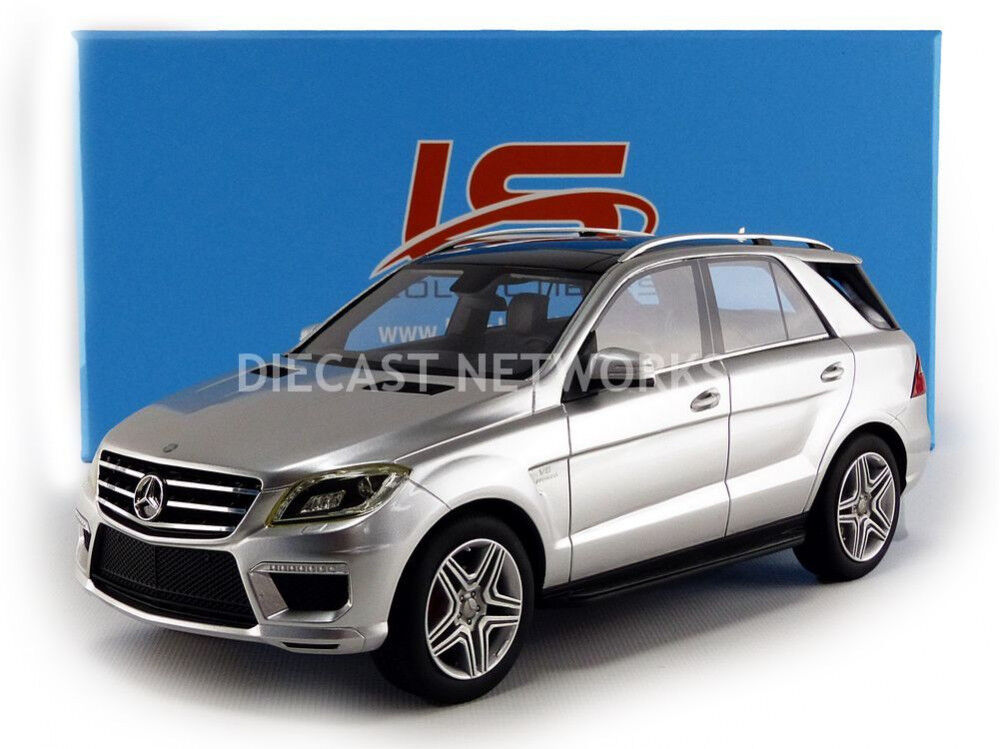 Ls Collectibles 2012 Mercedes Benz Ml 63 AMG Argento 1/18 Scala le Of 1000 Nuovo