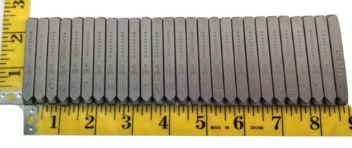 """Reversed 36pc 3//16/"""" 5mm Steel Letter and Number Stamp Punch Die Set"""