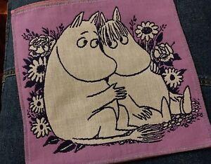 MOOMIN VALLEY Moomintroll Snork Little My Cotton Handkerchief  one piece 002 Red