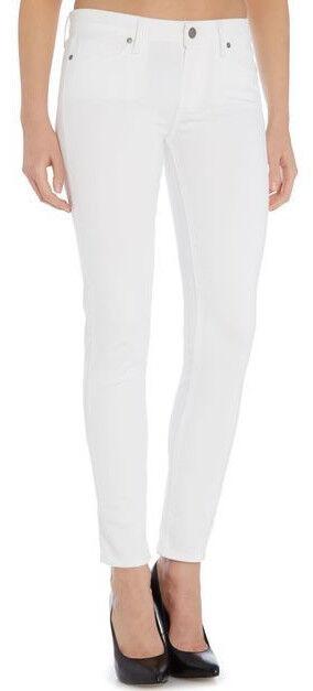 189 Paige Verdugo Ankle Optic White Slim Skinny Leg Stretch Jeans Size 28 NWT