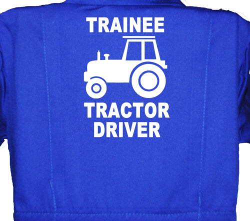 Children's, Kids, Coverall, Boilersuit, Overall Trainee Tractor Driver 1-8yrs