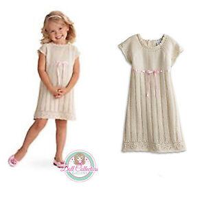 American Girl CL BITTY BABY FANCY SWEATER DRESS SZ 5 MEDIUM for Little Girl NEW