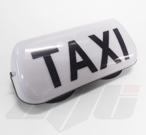 """14/"""" WHITE LED MAGNETIC MOUNT TAXI ROOF SIGN LIGHT TAXI METER TOP SIGN CAB"""