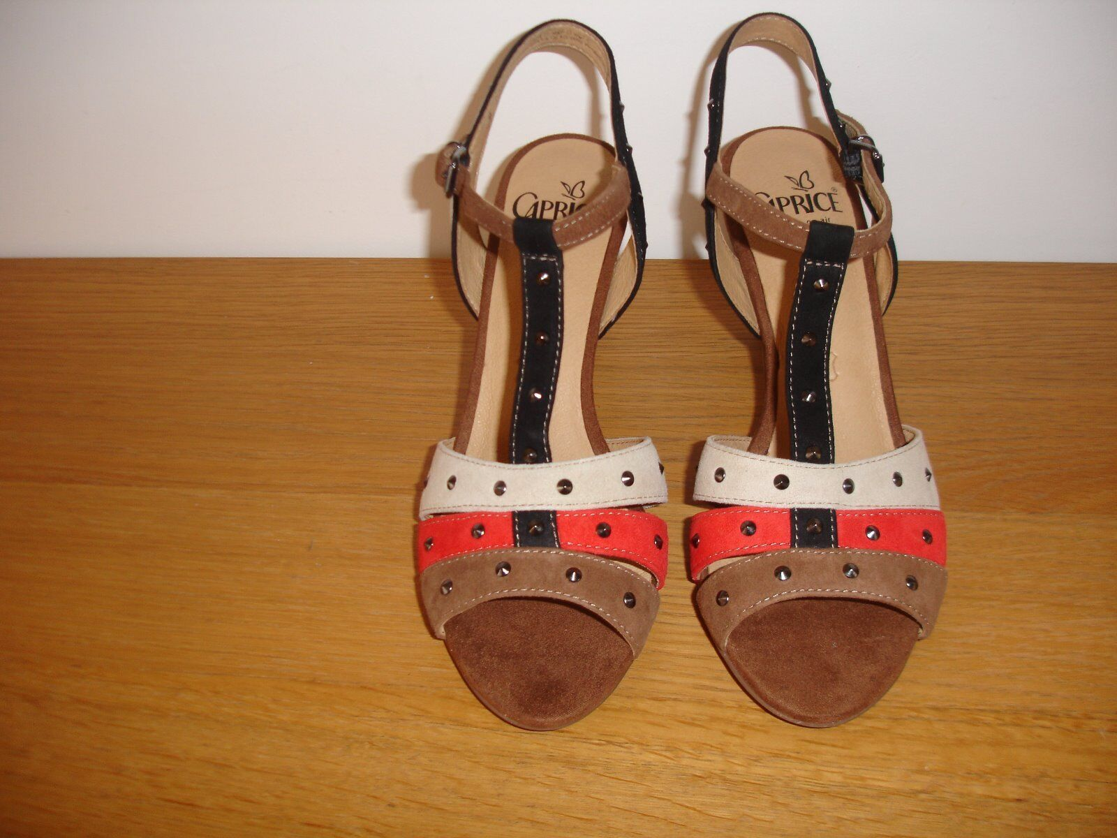 CAPRICE Sandal 9-28303-22 suede  size 7   40.5 New Box