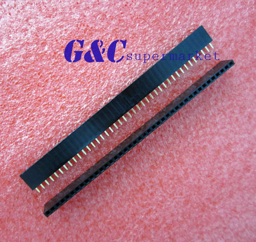 3Pcs 2.54mm 40 Pin Female Single Row Pin Header Strip New GOOD QUALITY