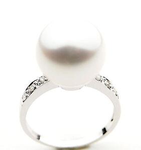 3-499-Pacific-Pearls-AAA-11mm-Australian-south-sea-White-pearl-Diamond-Ring