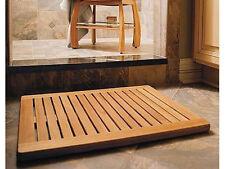"""TEAK WOOD RECTANGLE DOOR SHOWER SPA BATHROOM FLOOR MAT INDOOR OUTDOOR 24"""" x 18"""""""