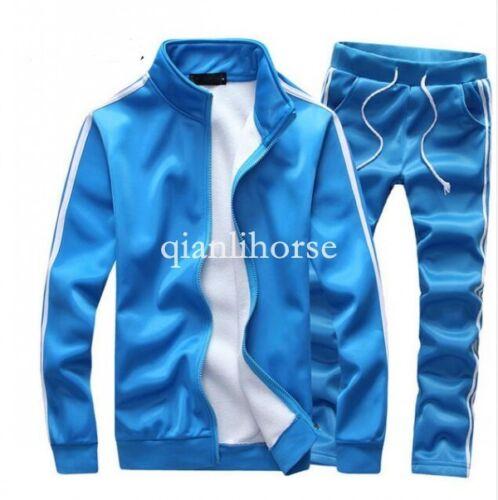 Hot Homme Running Sports Suits Fermeture Éclair Manteau Pantalon Survêtement Survêtement Taille Plus