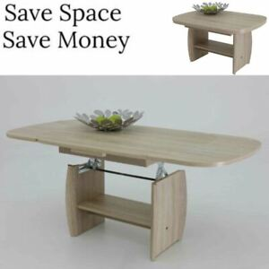 Coffee Table Extendable Top.Details About Coffee Dining Storage Table Extendable Lift Top Large Heigh Adjust Space Saver
