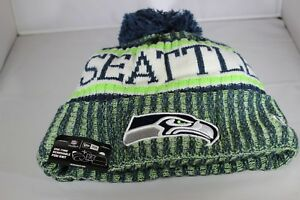 NEW-Era-onfield-NFL18-Seattle-Seahawks-Bobble-Cappello-da-sci-Multi-Colore-BNWT