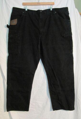 Wrangler Riggs Black Double Knee Cargo Pockets Carpenter Work Pants Mens 50 x 32