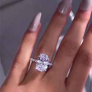 Women Engagement Wedding Ring Crystal Rhinestone Finger Rings Jewelry Size 6 11 Ebay