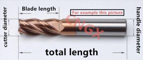 1PC DESKAR 4Flute 10mmx10×30×75 /<HRC60° ALL Solid Carbide End Mills Cutter
