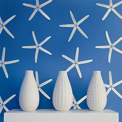 Starfish Allover Stencil - Nautical Wall Stencils - DIY Beach House Decor