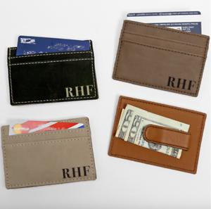 Personalized-Leatherette-Money-Clip-Wallet