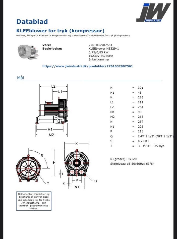 Turboblæser/vaccum, Kleeblower