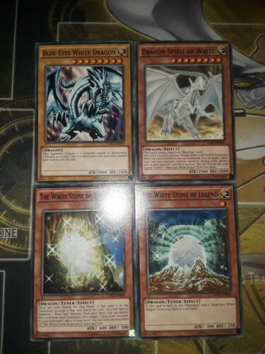 Yugioh Blue Eyes White Dragon And Dragon Spirit Of White Plus Stone
