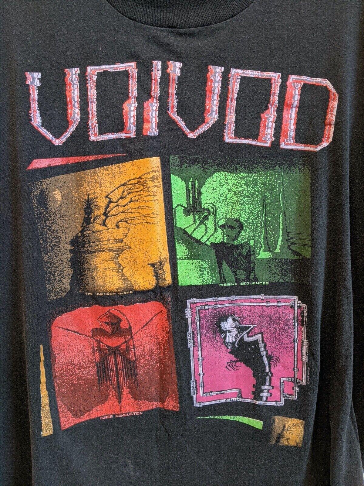 Rare VOIVOD Vintage T Shirt 80/'s CONCERT Thrash Metal Band TECHNOLOGY !