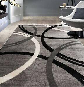 Rugshop-Modern-Wavy-Circles-Design-Area-Rug