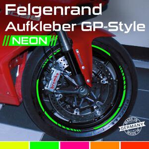 Neon GP Design Felgenrandaufkleber Felgenaufkleber Auto Motorrad Grün Pink Rot