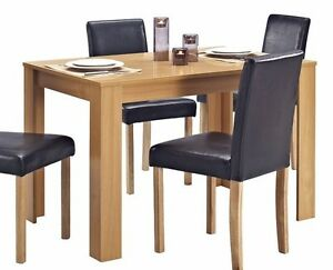 Wooden-Dining-TABLE-ONLY-Solid-Wood-Oak-Effect-Finish-Table-4-Seater