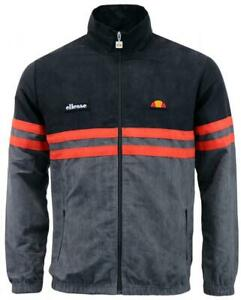 New-Ellesse-Men-s-Track-Top-Jacket-Black-Grey-Rimini