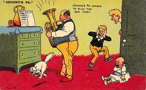 Tom-Browne-Johnny-039-s-Pa-Learns-to-Play-the-Saxophone-Screaming-Cat-Baby-1907-PC