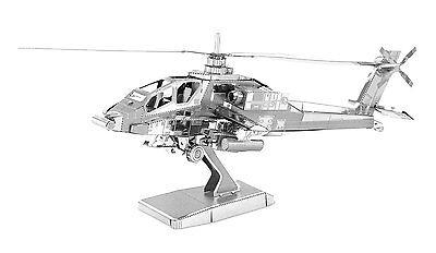 Metal Earth AH-64 Apache Helicopter Laser Cut 3D Model Kit