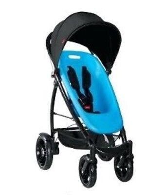 Phil/&Teds 2013 Smart Buggy Stroller Bundle Bubblegum Seat /& Liner /& Black Canopy