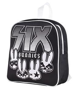 Six Bunnies Cute ROCKGROUP Kinderrucksack / BACKBAG Rockabilly