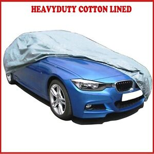 PREMIUM HEAVYDUTY FULLY WATERPROOF CAR COVER COTTON LINED JAGUAR X TYPE SALOON