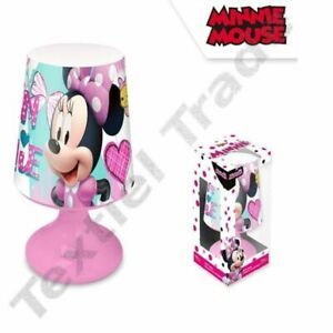 Girls Childrens Toddlers Mini Desk Lamp Night Light Bedroom Disney Minnie Mouse Ebay