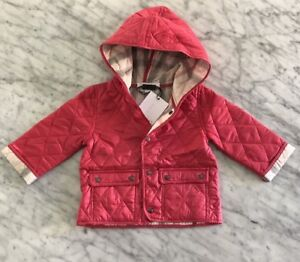 5f59ef8af NWT Burberry  Jodie  Quilted Hooded Puffer Jacket Baby Girl 9 Months ...
