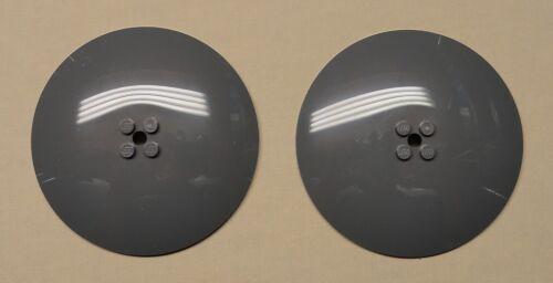 x2 NEW Lego Radar Dishes 8x8 8 x 8 DARK BLUISH GRAY