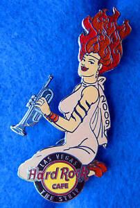 Las-Vegas-Striscia-Sexy-Rock-Goddess-Fiamma-Rosso-Capelli-Tromba-Girl-Hard-Cafe