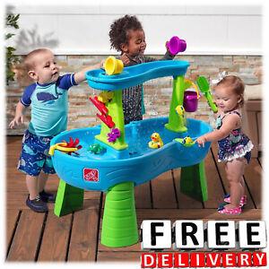 Kid Water Table Child Indoor Outdoor Fun Rain Shower Splash Playset ...