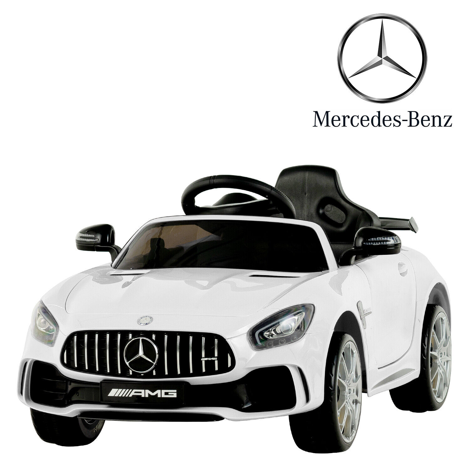 Electric Kids Benz Racing GTR 6V Ride On Toy Car RC Story&MP3&USB&TF Card White