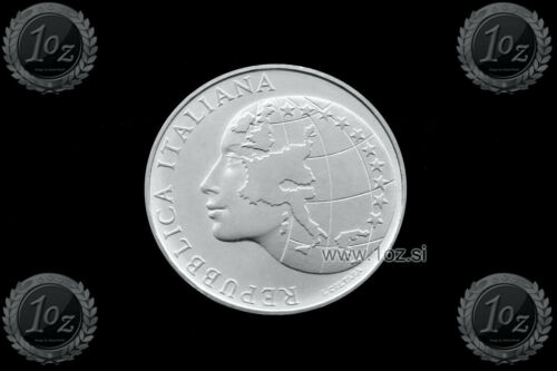 UNC EU PRESIDENCY SILVER Commemorative coin KM# 115 ITALY 500 LIRE 1985