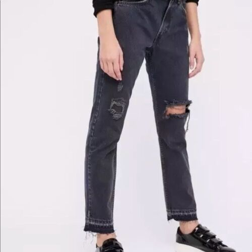 505c Jeans orlo Tab Orange sfilacciato 31x28 Nwt Foro grigia Levis Ritagliata Gamba wEnOxxZ