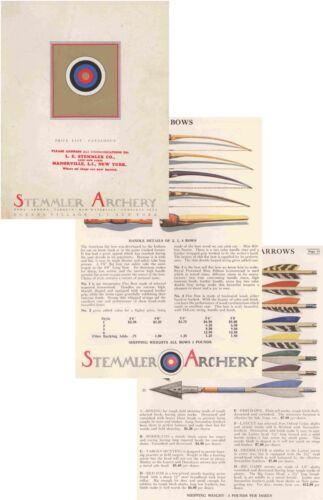 Stemmler c1945 Archery Catalog
