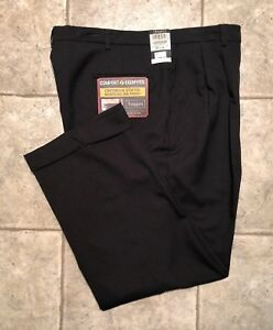 HAGGAR-Mens-Black-Casual-Pants-Size-38-x-29-NEW-WITH-TAGS