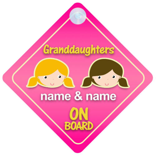Baby on Board Choice of Grandchildren Designs Car Signs for Grandparents
