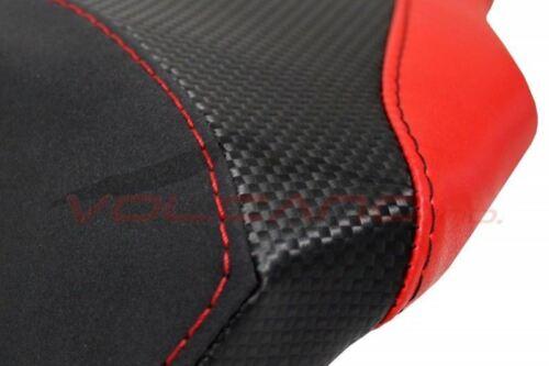 Ducati 848 1098 1198 Volcano design Saddle cover Anti scivolo black /& Red carbon