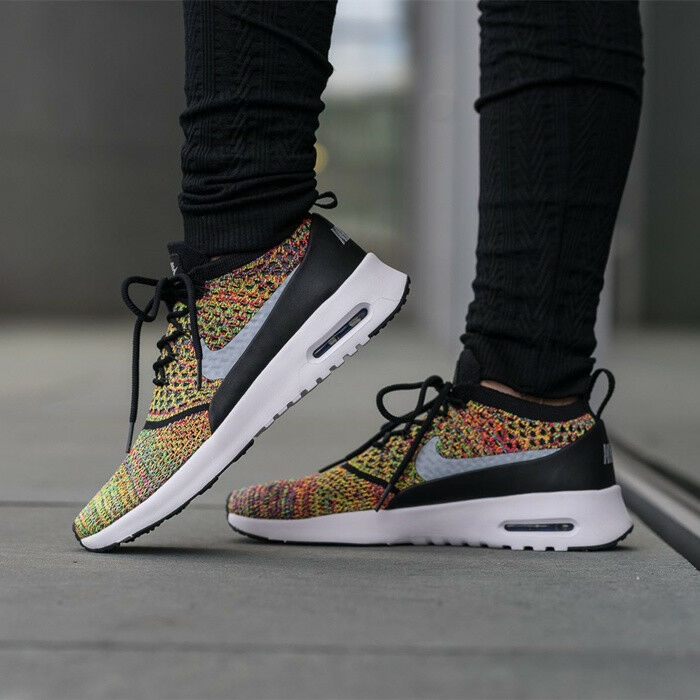 NIKE AIR MAX THEA ULTRA FK FLYKNIT MULTI-COLOR Rainbow Women's 8.5 Racer Shoes