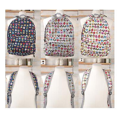 Korea Fashion MASK Backpack School Travel Bag Navy Gray Ivory Polyester Unisex