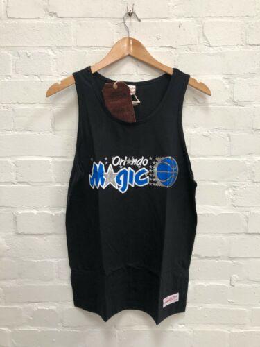 Mitchell /& Ness Orlando Magic NBA Men/'s Team Logo Tank Top Black New