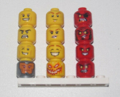 Lego ® Tête Head Visage Cheveux Hear Man Minifig Homme Choose Model 3626 NEW