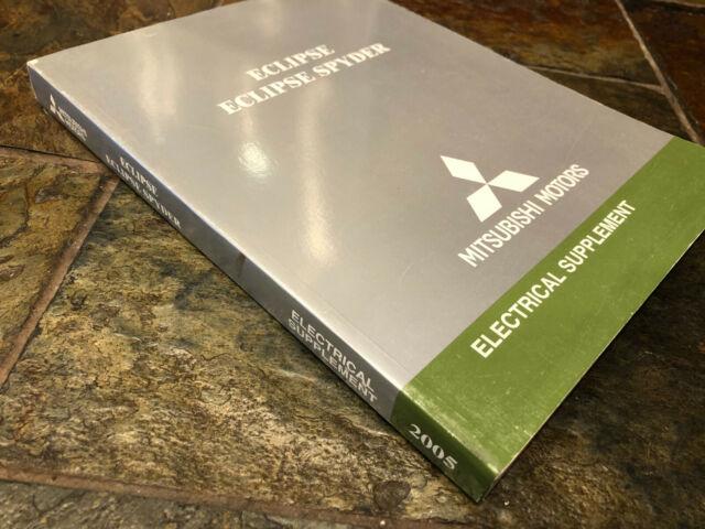 2005 Mitsubishi Eclipse  U0026 Spyder Electrical Wiring Diagrams Service Manual Supp