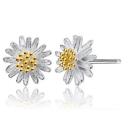 Winzig Sterlingsilber Blume Ohrringe - Geschenktüte - P&p......cg0705